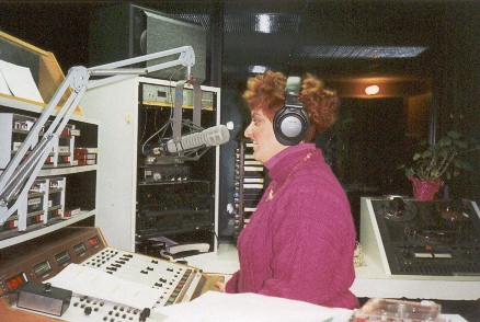 Karen Nataro on-air at WRDR